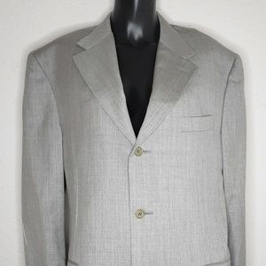 Canali Proposta Mens Wool Blazer Gray 52R